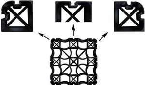 plastic grid details