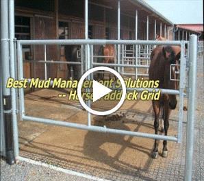 أفضل منتجات حلول إدارة الطين - Horse Paddock Grid