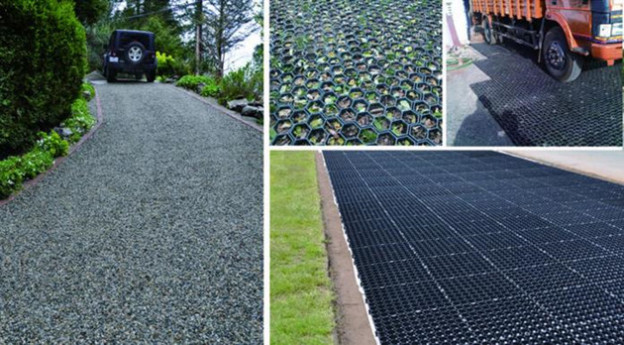 """Gravel Stabilization Grid For City """"Heat Island Effect"""" Reduction"""