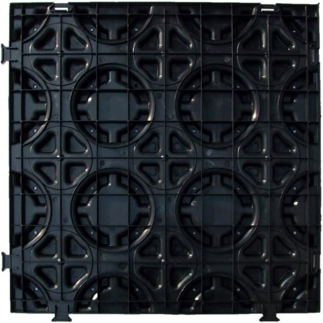 Interlocking Radiant Floor Heating Grid Module For In