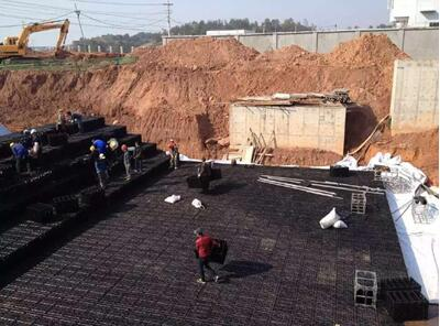 underground tank, soakaway crates, water storage tank