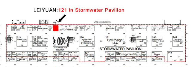 The booth no. of LEIYUAN in WEFTEC 2017 - 121 in Stormwater Pavilion
