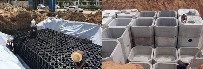 Differenze tra i serbatoi di acqua piovana in PP e il serbatoio in calcestruzzo
