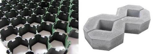 plastic grass grid,grass paver grid, Plastic grass reinforcement grid system