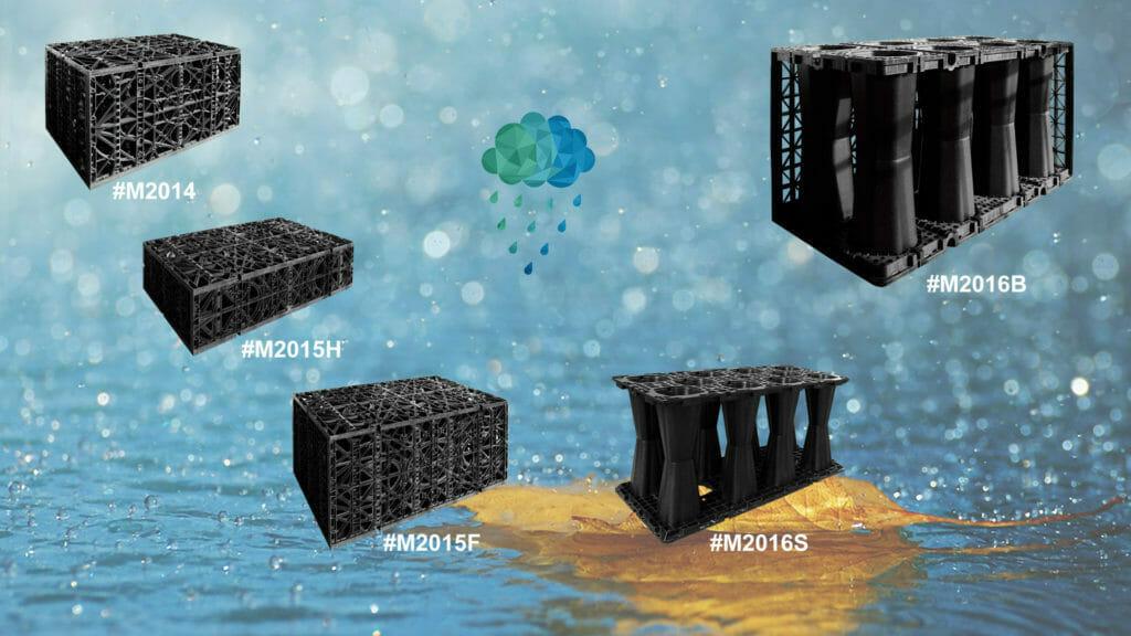 Serbatoio di acqua sotterraneo, serbatoi di acqua piovana modulari