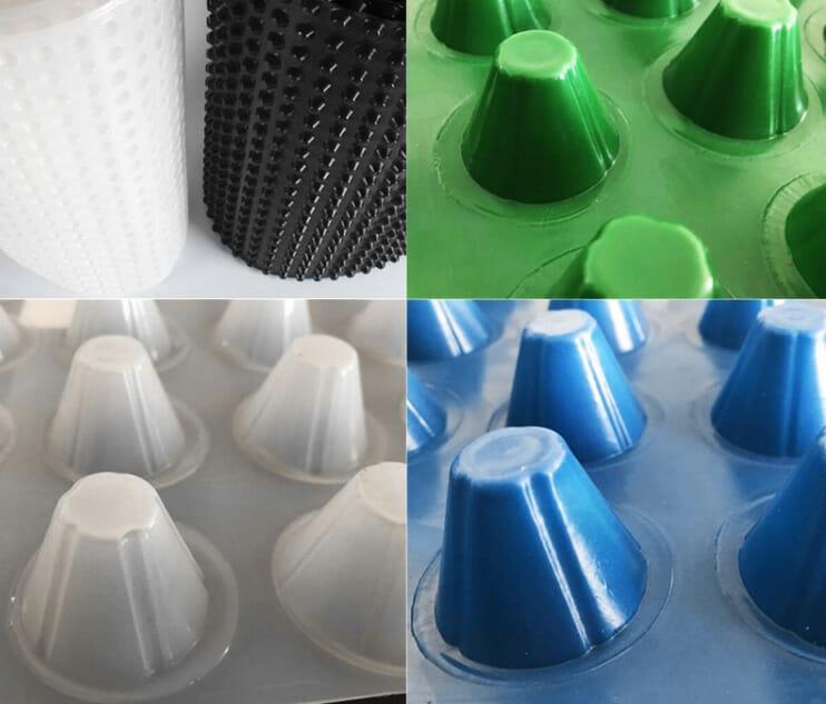 ورقة الصرف ، صفائح الصرف البلاستيكية ، وأغطية البلاستيك الصرف