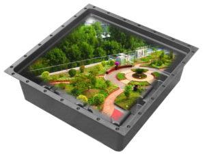 녹색 지붕 쟁반이 배수 시스템을 구성했는지 확인하는 방법?