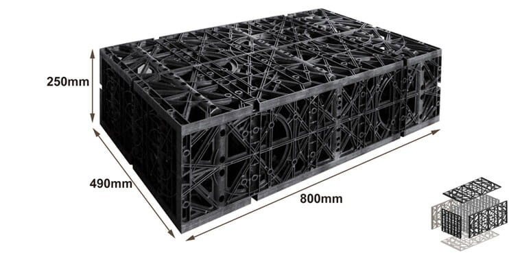 Stormwater Attenuation Tank, Geocellular Storage Crates Leverancier