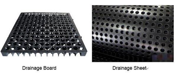 Podobieństwo i różnica między drenażem a arkuszem odwadniającym