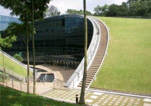싱가포르 난양 기술 대학의 녹색 지붕