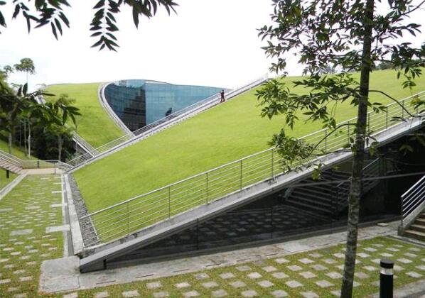 Green roof of Nanyang Technological University, Singapore