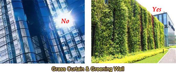 استخدام جدار ستارة زجاجية أقل والمزيد من تخضير الجدار