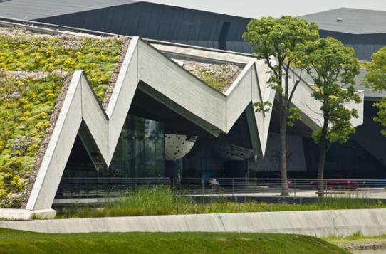 Il più grande edificio a tetto verde in Cina