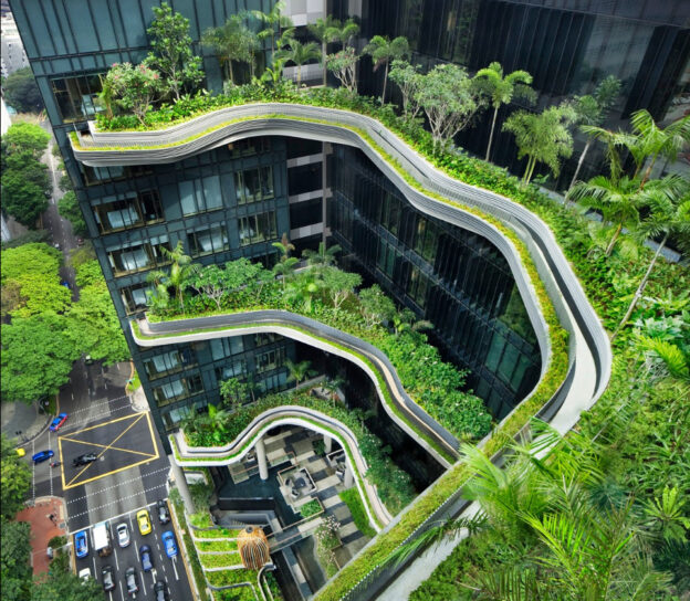 Vertical Greening Hotel in Singapore-Parkroyal