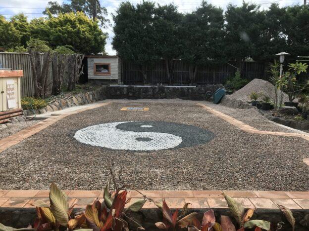 Réservoir d'eau souterrain dans un projet de conversion de piscine