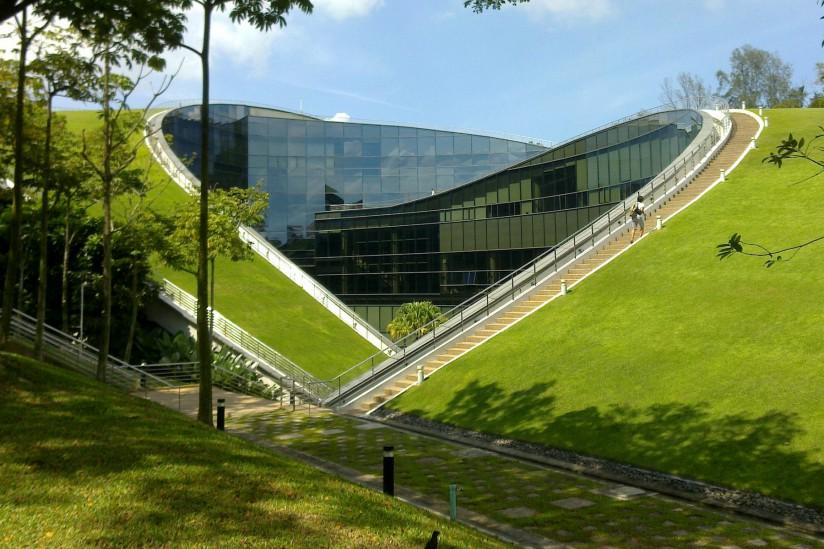 Dakgroen aan de Nanyang Technological University