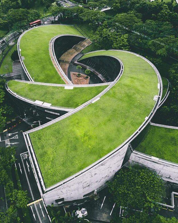 南洋理工大学の屋根の緑化