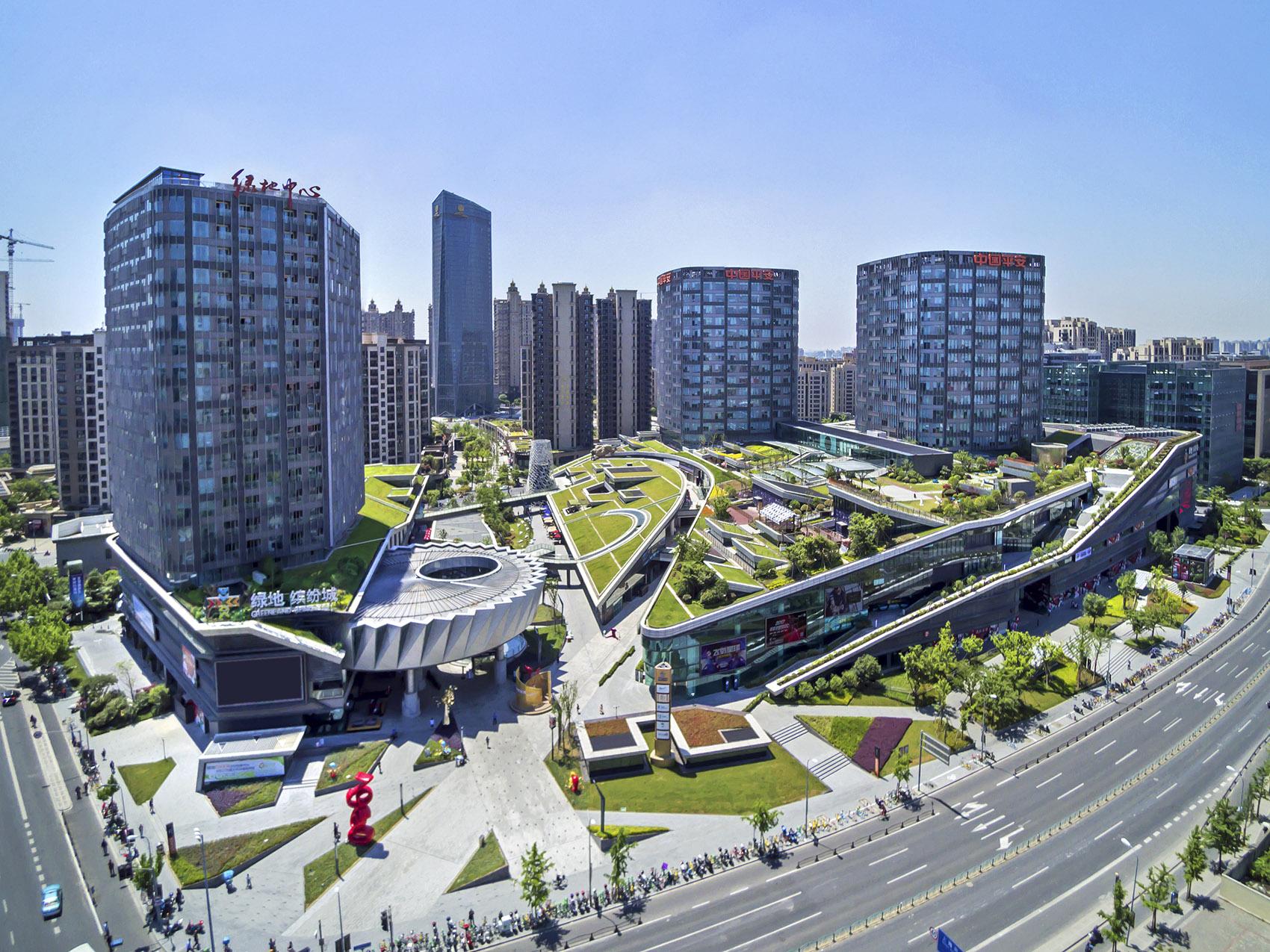 Conception de paysage de Shanghai Binfencheng