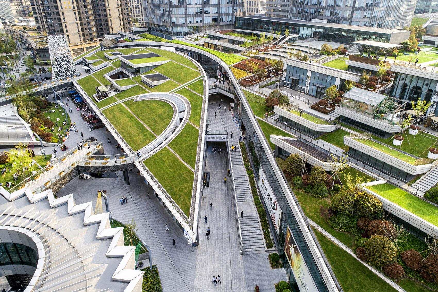 Diseño del paisaje de Shanghai Binfencheng