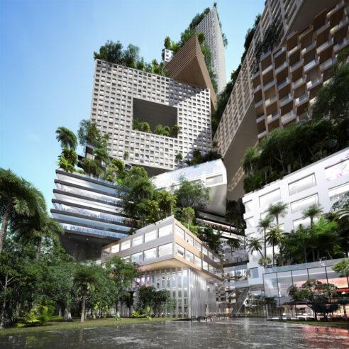 `` Ville verticale '' de 400 mètres de haut à Jakarta