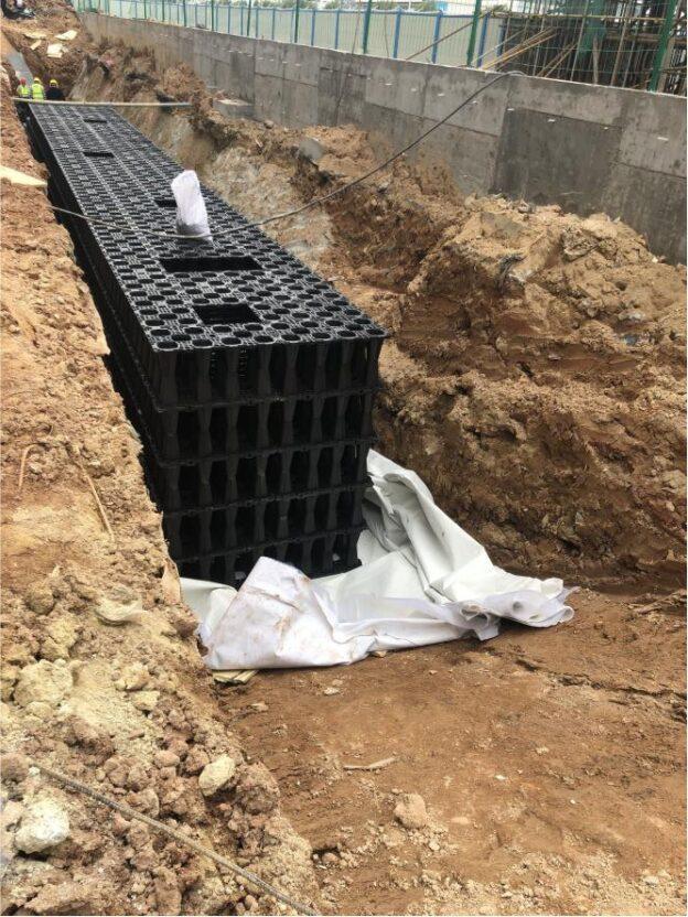 Application du module de collecte des eaux pluviales